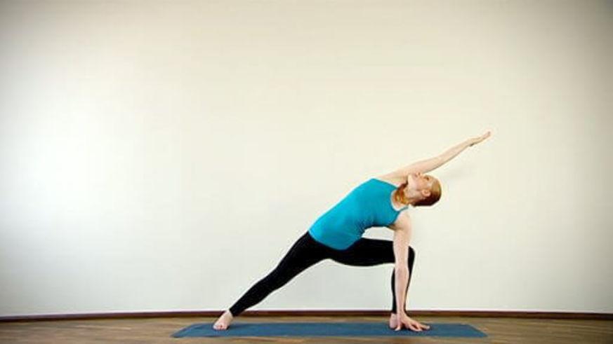 Yoga Video Clip: Parsvakonasana (lange Flankenstreckung)