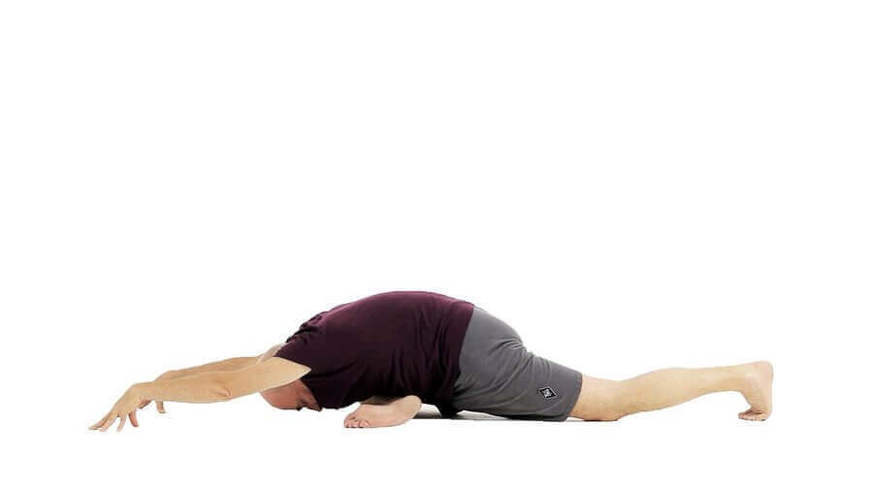 Yoga Video eka pada rajakapotasana I (Taube I)