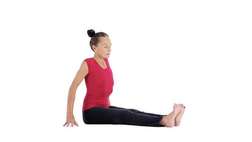Yoga Video dandasana (Stockhaltung im Sitzen)