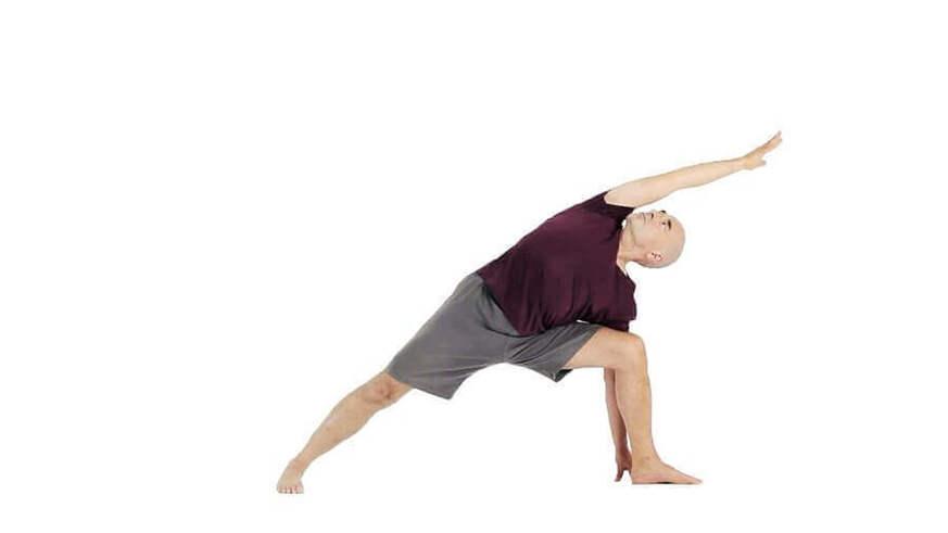 Yoga Video utthita parsvakonasana (gestreckter seitlicher Winkel)