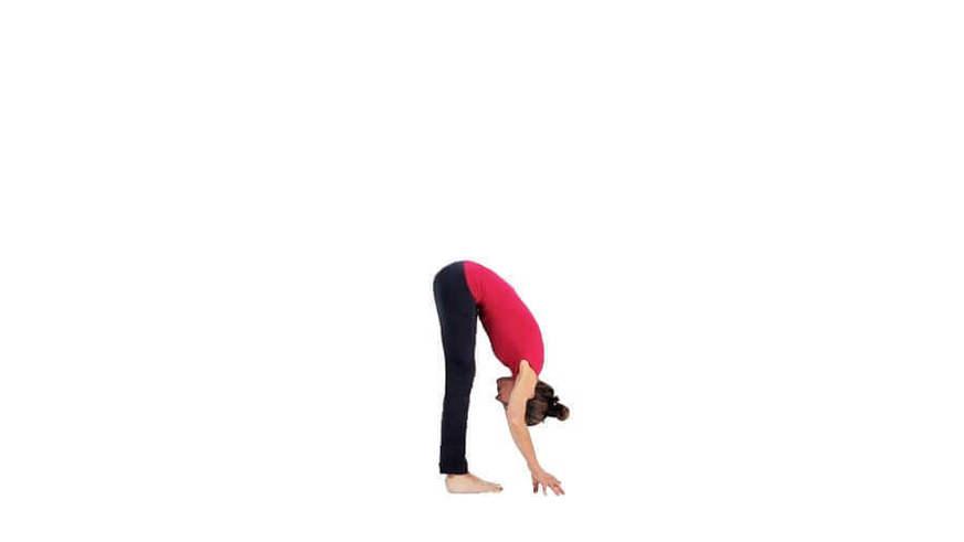 Yoga Video uttanasana und ardha uttanasana (Vorbeuge aus dem Stand)