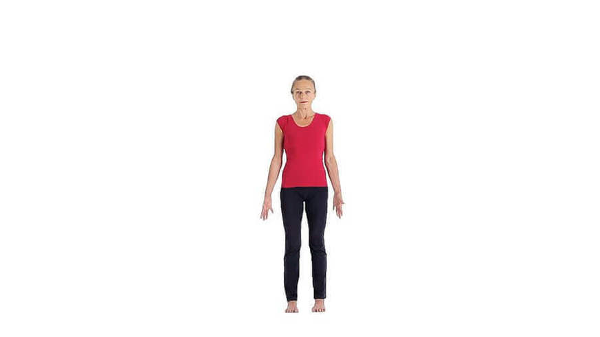 Yoga Video tadasana (Bergstellung)