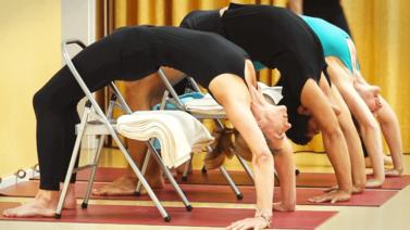Yoga Video Iyengar Aufbaukurs Teil 4: Von der Erdung und Ausdehnung zur Drehung und Rückbeuge