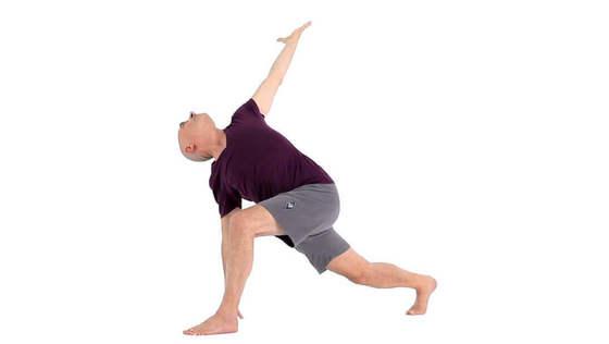 Yoga Video parivrtta asva sancalanasana (rückgebeugter Ausfallschritt)