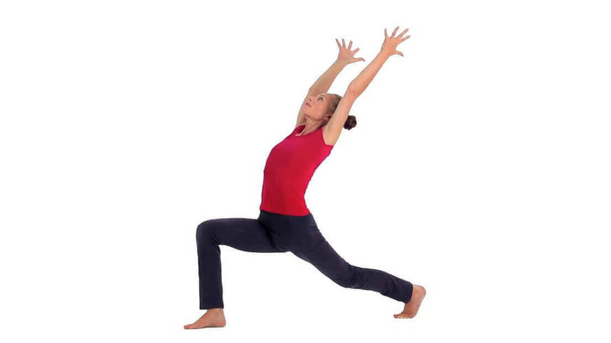 Yoga Video alanasana (Ausfallschritt mit Rückbeuge)