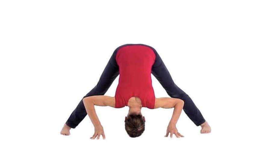 Yoga Video prasarita padottanasana (Vorbeuge in der Grätsche)