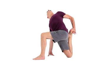 Yoga Video parivrtta eka pada rajakapotasana II (gedrehte Taube II)