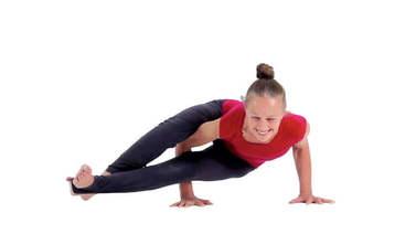 Yoga Video astavakrasana (Acht-Winkel-Haltung)