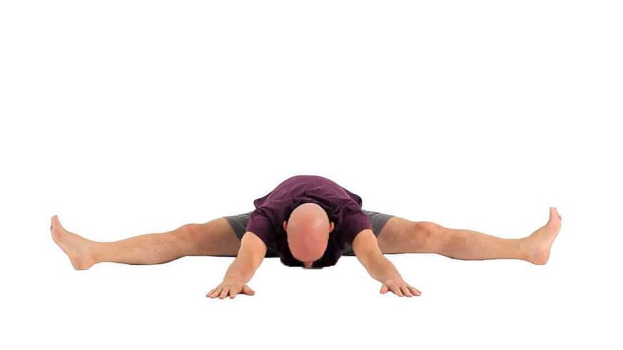 Yoga Video upavistha konasana (vorgebeugter sitzender Winkel)