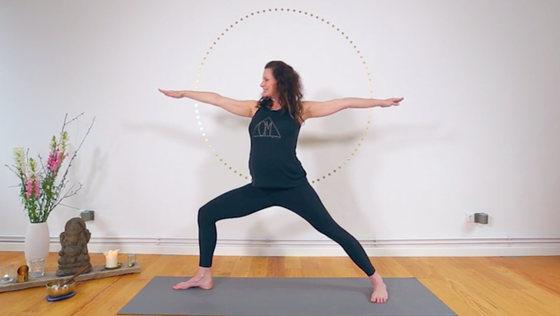 Yoga Video Mamasté Flow für den Anfang vom Endspurt